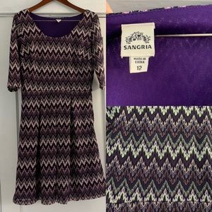 Purple, chevron dress.